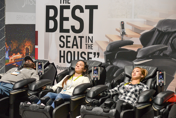 Best Seat in the House at CES were the comfort chairs