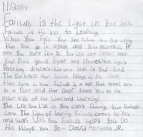 Failure is the light