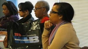 Latin women participating in the immigrant women seminar at the Women Legislative Briefing 2015