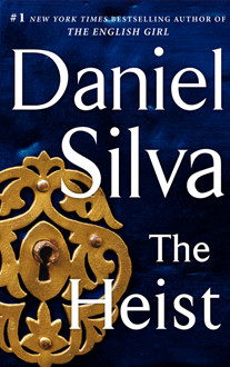 book cover for The Heist by Daniel Silva