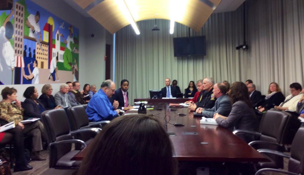 photo of Montgomery County Council Committee on Education receiving Feb. 2 briefing on Child Abuse and Neglect