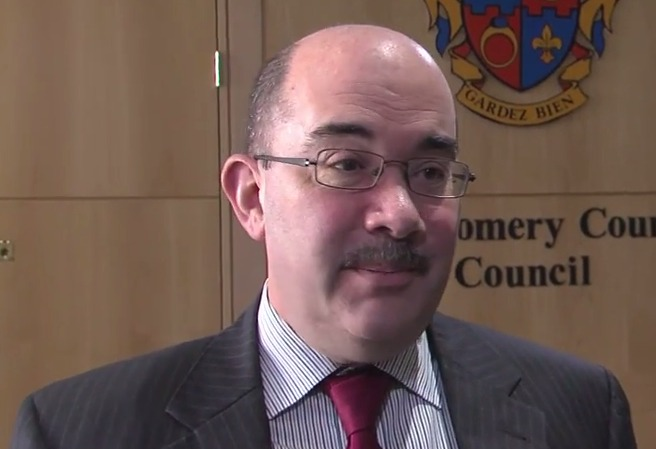 photo of Council President George Leventhal commenting on Starr resignation