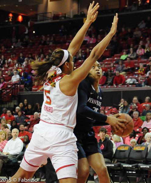 #5 Malina Howard on defense