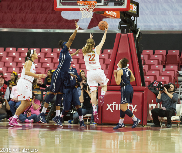 #22 Tierney Pfirman from Williamsport, PA on a layup in the 1st quarter