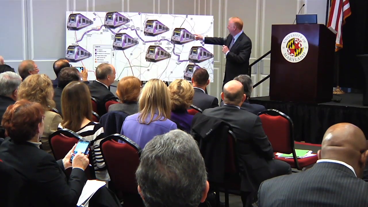 photo of meeting on Purple Line held at University of Maryland college park