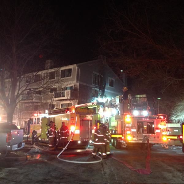 Apartment Building Fire In Bethesda (PHOTOS)