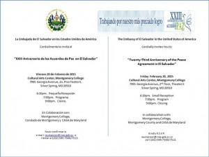Anniversary Celebration of the Peace Agreement of El Salvador