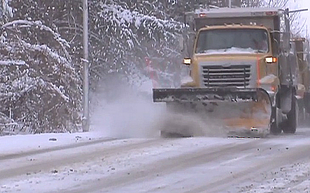 snow plow winter weather advisory for Montgomery County for slider 450 x 280