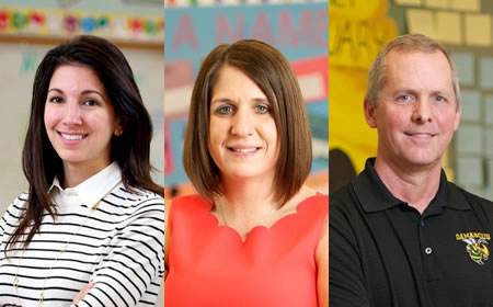 photo of the three nominees for teacher of theyear