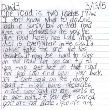 David B writing