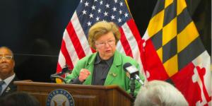 Sen. Barbara Mikulski announcing her retirement