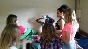 Having fun in the dorms!