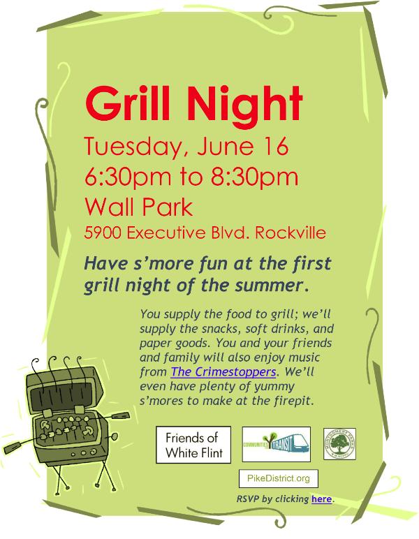 Grill Night Wall Park June 16