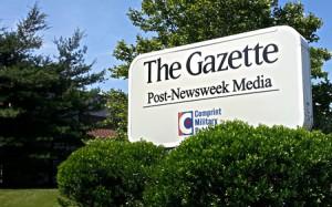 Gazette Newspaper Sign 450x280