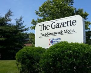 Gazette newspaper sign