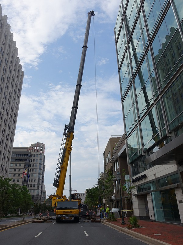 June 13 Southbound Wisconsin Ave closed for crane 1