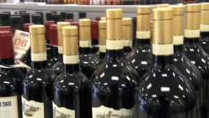 Liquor bottles in store