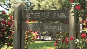Veterans Park Rockville Sign