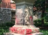 Confederate soldier statue vandalism