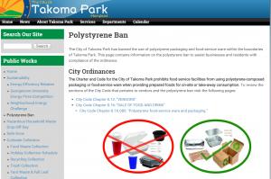 Polystyrene Ban   The City of Takoma Park