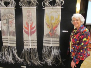 Renate Chernoff, a resident of Riderwood, will have her metal weaving on display at the retirement community's A Feast for the Eyes III July 22-24.