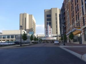 Rockville street next to Cambria Suites