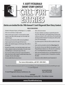 F Scott Fitzgerald Short Story Contest