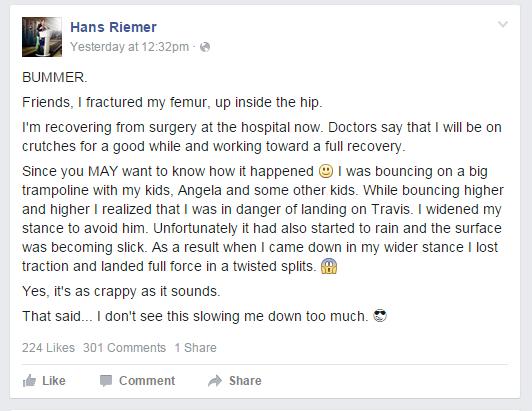 Facebook Hans Riemer