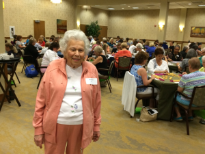 Tournament coordinator & Riderwood resident Barbara Breit is pictured as tournament play began on August 13.