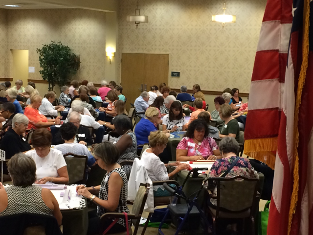 A record-setting field of 148 players participate in Riderwood's 8th Annual Mah Jongg Tournament on August 13.
