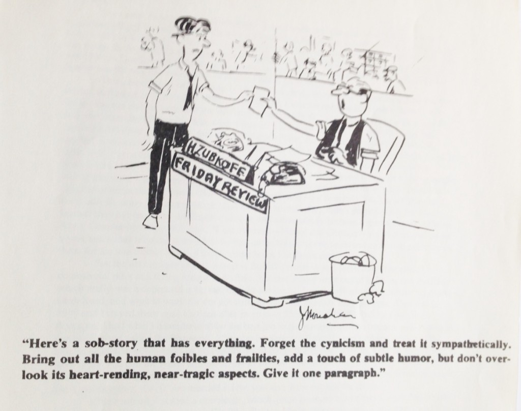 Cartoon showing Harry giving and assignment to employee