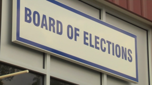Board of Elections sign