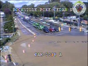 Rockville Pike Cedar Lane water main break
