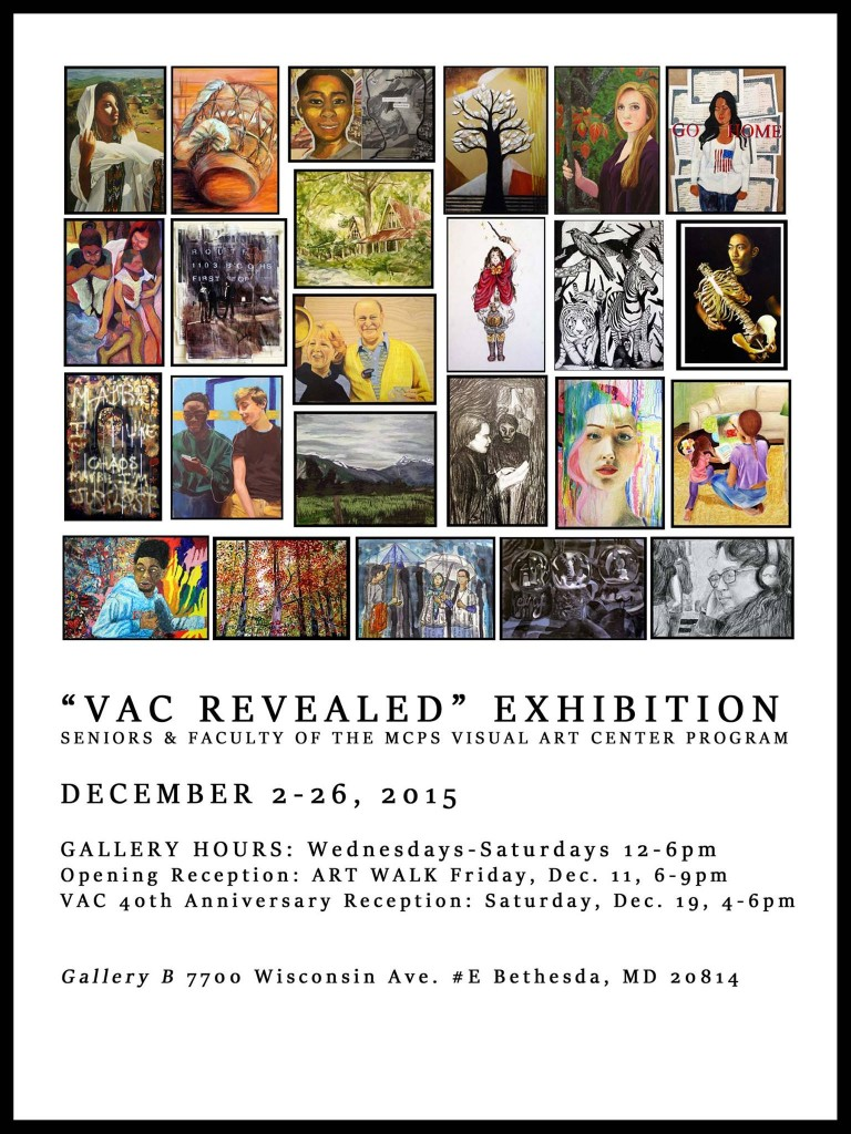 Flyer for Gallery B VAC Revealed exhibit