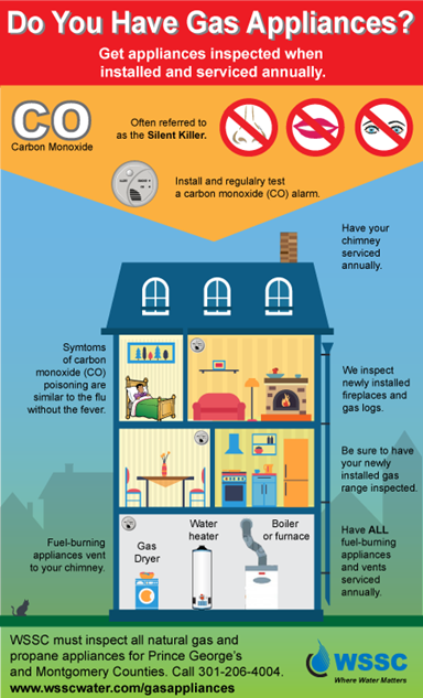 Gas Appliances Infographic