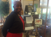 Riderwood resident Levern Allen coordinated the presentation of display cases featuring items and photographs that highlighted African American achievements in spirituality, music, culinary pursuits, military and business.