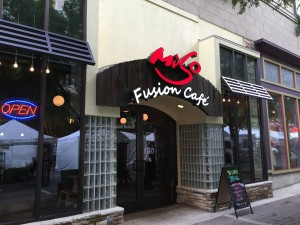 Store front of Miso Fusion Cafe in Rockville.