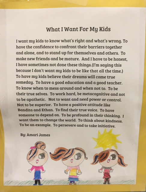 What I Want for my kids