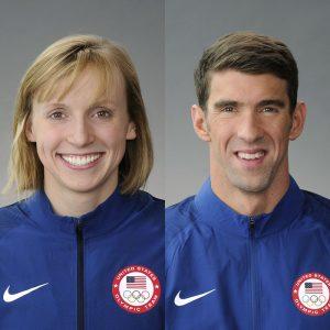Katie Ledecky & Michael Phelps USA Olympics 2016 team photos 700x700