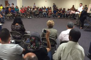 Kay Apartments Meeting with Residents