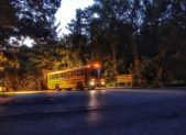 MCPS buses rolling out of Bethesda bus depot first day of school 2016