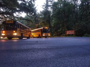 MCPS buses rolling out of Bethesda bus depot first day of school 2016 3