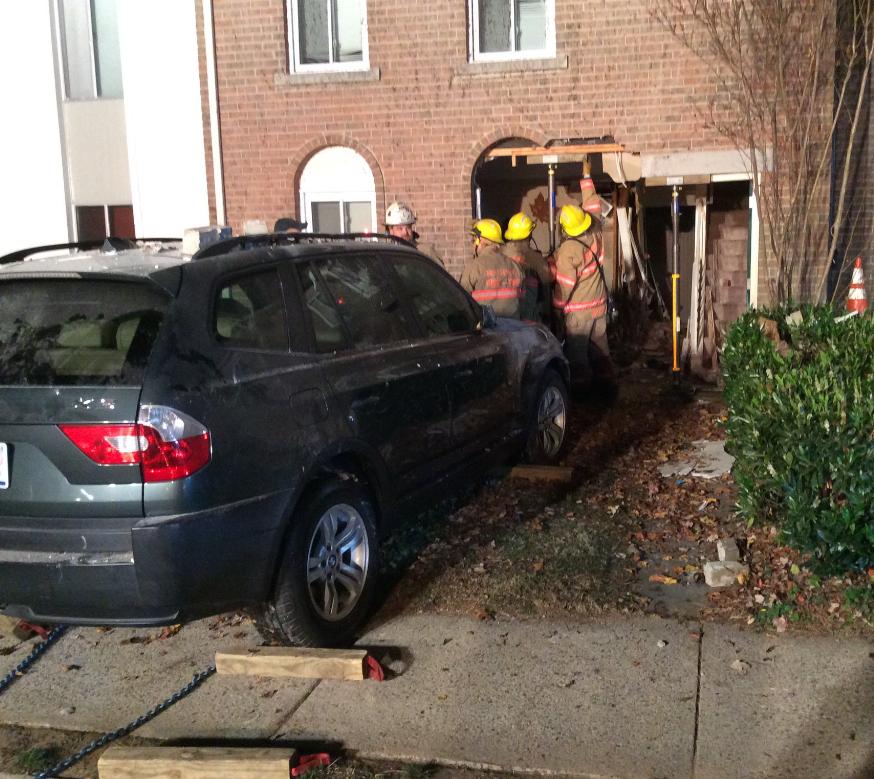 Car Crashes into Gaithersburg Townhouse (VIDEO & PHOTOS ...