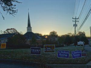 election day sunrise potomac