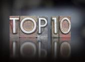 Top 10 Letterpress istock top ten