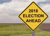 2018 Election Ahead Sign istock