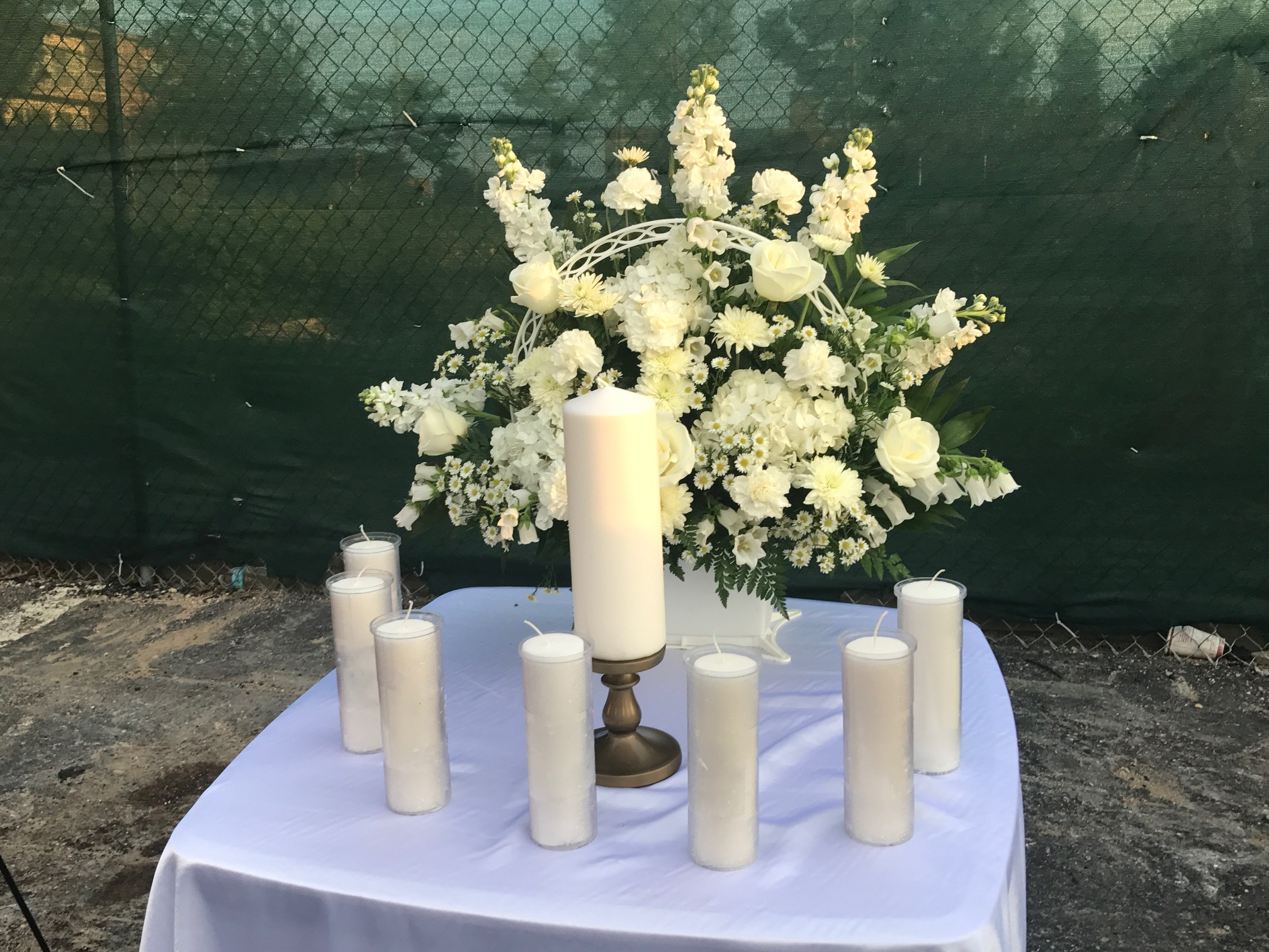 One Year Later Candlelight Vigil At Flower Branch Apartments In