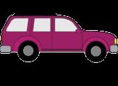 purple passenger car suv graphic square