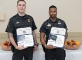 (l:r) Montgomery County Police, 5th District Officers Charles Ricucci & Gregory Walker were awarded the Medal of Valor for going above and beyond the call, safeguarding civilians in a store, and apprehending an armed and dangerous individual.  (Photo compliments of Phil Fabrizio, PhotoLoaf® - Live. Love. Play. Loaf.)