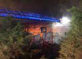 Clarksburg recycling fire 2